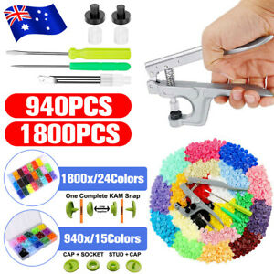 1800PC Plier Tool for KAM Snap Kit T5 Plastic Press Studs Snaps Fastener Buttons