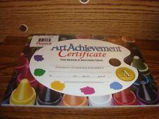 #30 Thirty Art Achievement CERTIFICATES Certificate of Art Achievement      New