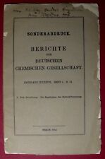 1914 The SVEDBERG eigh. Widmung - Ergebnisse der KOLLOIDCHEMIE Nobelpreis