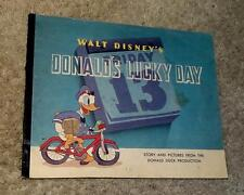 "DISNEY 1939 ""DONALD'S LUCKY DAY"" STIFF COVER BOOK #897 BY WHITMAN"