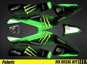 Kit Déco Quad / Atv Decal Kit Polaris Scrambler Trailblazer  - Monster