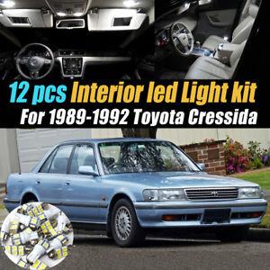 12Pc Super White Car Interior LED Light Bulb Kit for 1989-1992 Toyota Cressida
