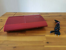 SONY PLAYSTATION 3 rot 12GB ► PS3 superslim CECH-4204A ◄ SEHR GUTER ZUSTAND