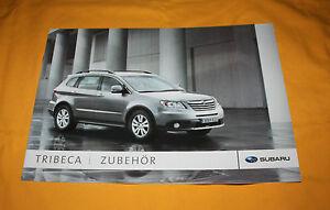 Subaru Tribeca Zubehör 2007 Prospekt Brochure Depliant Prospect Catalog Broschyr