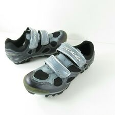 Specialized Body Geometry Clip In Mountain MTB Cycling Shoes Women 7 Silver Blue