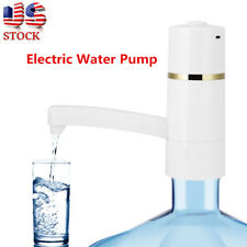 Rechargeable Electric Water Pump Drinking Gallon Bottle Dispenser 15W Safety Usb