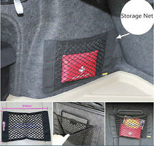 Luxury Car Interior Trim Panel Trunk Storage Self Adhesive Net Pocket Organizer