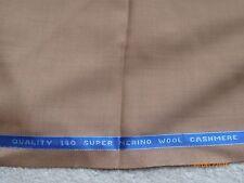 MADE IN ENGLAND 150 Super Lana Merino Cashmere Tessuto Marrone Chiaro