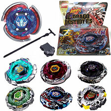 4D Beyblade Top Fusion Metal Master Fight Rapidity Rare Launcher Set Lot Kid Toy