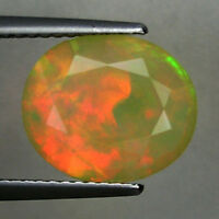 2.27 ct STUNNING FIRE RAINBOW COLOR - NATURAL ETHIOPIA OPAL  Oval  See Vdo RC
