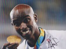 MO FARAH GBR Foto 20x27 orignial signiert IN PERSON Autogramm signed Autograph
