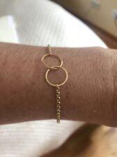 Zoe Chicco Interlocked Circles Gold Chain Bracelet