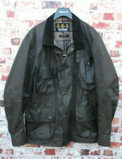Barbour International Trials Wax Black Motorcycle Biker Jacket Steve McQueen