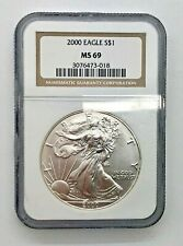 2000 Silver American Eagle Dollar NGC MS69 Mint State 69