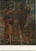 Alte Kunstpostkarte - Lübeck - Dom - Christopherus