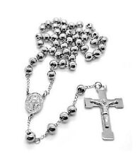 First Holy Communion Rosary 6mm Beads 1st Communion Present Stainless Steel
