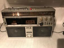 Interstate 9440 Rare Vintage Stereo Dual Cassette system boombox