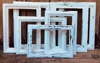 FRAME SET SIMPLE SHABBY WHITE COTTAGE BOHO CHIC ~6 PETITE Gallery Style~