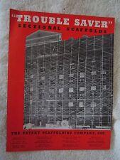 1941 Patent Scaffolding Company Brochure
