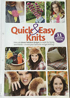 KNITTING PATTERN 11 Quick & Easy Knits Vegetables Werewolf Items Socks Scarf