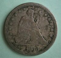 United States 1876 Silver Seated Liberty Quarter 25 Cents