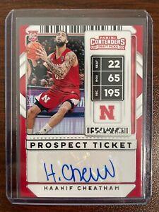 Haanif Cheatham 2020-21 NBA Contenders Draft Picks RC Prospect Ticket Auto