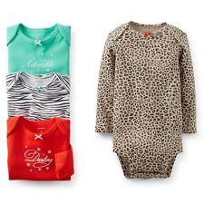 NEW NWT Carter's Newborn Girls 4 Pack Animal Print Bodysuits Zebra Leopard