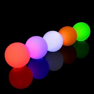 Set of 3 Solid Colour LED Contact/Juggling Glow Ball by Oddballs - Various