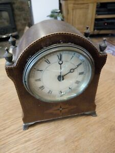 Vintage Wooden carriage Clock Old