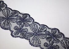 Navy Blue Lace Soft Headband, Women's Hair Accessories