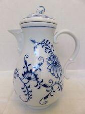 "Meissen Blue Onion Crossed Swords Mark Porcelain Coffee/Tea Pot 9.5""H"
