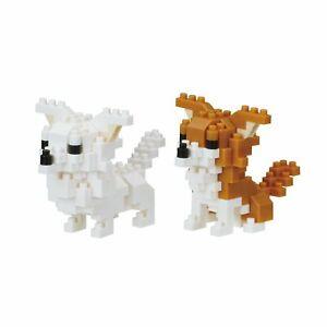 Nanoblock Chihuahuas Mini Steine Puzzle 180 Teile NBC-259 Hund Rasse Brandneu