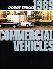 1989 Dodge Ram Commercial Truck 18-page Sales Brochure Catalog - Van Pickup