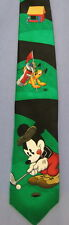 Mickey Mouse Golf Club Pluto Silk Novelty Necktie Neck Tie