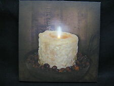 Rosehips Candle Lighted Canvas Wall Decor Sign