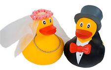 Badeenten Hochzeit * Gummiemten Brautpaar * Ente Braut Bräutigam * Dekoration X