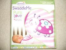 Summer Infant - Swaddleme Pure Love Swaddling Blanket, Lady Bug, Small/Med
