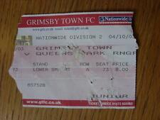 04/10/2003 Ticket: Grimsby Town v Queens Park Rangers  (folded, worn, torn)