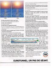 PUBLICITE ADVERTISING  1987  EUROTUNNEL