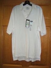 Pga Tour Cotton Fusion Pique Golf Polo Shirt White embroid Xl Nwt Free Ship