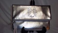 NWT Victoria's Secret Angel Wing  Foldover Clutch Silver Purse Case Pink HANDBAG