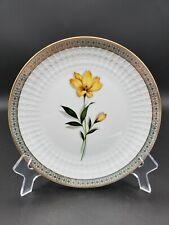 "Winterling Marktleuthen Bavaria 7.75"" Yellow Flower China Plate Gold Trim FANCY!"