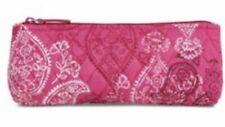 Vera Bradley Brush & Pencil Travel Case Bag ~ Stamped Paisley ~ NWT