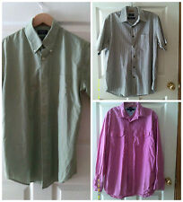 3 lot of Men's Medium Front Button Shirts Tommy Hilfiger & Dockers