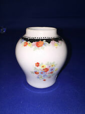 Miniature vase with hand painted flowers