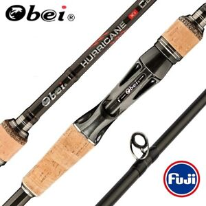 Obei 3 Section Telescopic Baitcasting Fishing Rod Travel Casting Spinning Lure