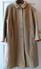 Vintage Lord & Taylor Woman's Coat XL Sport & Country 1960s 60s Full Length Tan