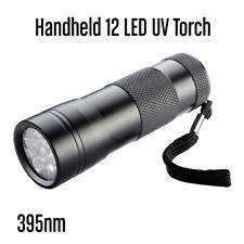 12 LED 395 nM UV Ultra Violet Flashlight Torch Light Lamp Aluminum OZ
