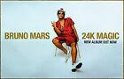 BRUNO MARS 24K Magic Ltd Ed Discontinued RARE Poster +FREE Pop R&B Dance Poster!