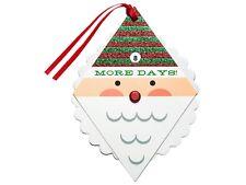 New ! 6 Counts 'Diamond Santa Countdown Premium Gift Tag Set